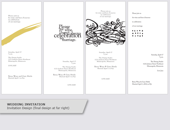 invitation event program design graphic design portfolio hazel