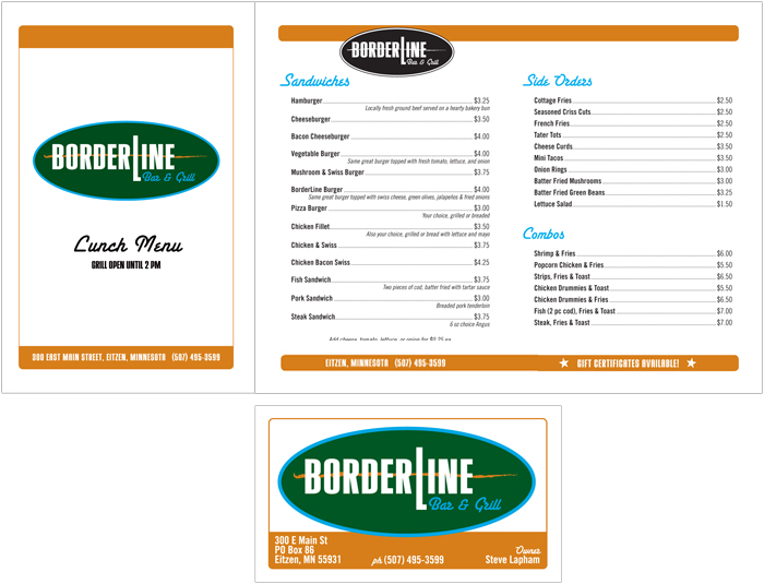 Borderline Bar & Grill Menu